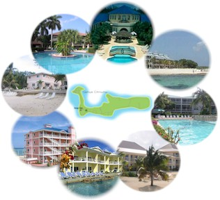 Grand Cayman Timeshare Resorts, Morritts Tortuga, Morritt's Grand, The Royal Reef, Indies Suites, Plantation Village, Grand Caymanian, 7 Mile Beach Resort, Coral Sand, Cayman Islands